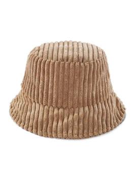 Corduroy Striped Bucket Hat   Khaki by Zaful