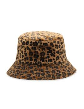 Leopard Faux Fur Bucket Hat   Brown by Zaful