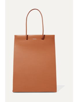 Prima Tall Two Tone Leather Tote by Medea