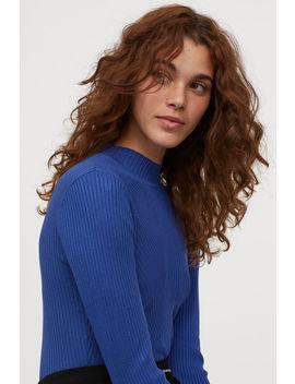Пуловер с ластична плетка by H&M