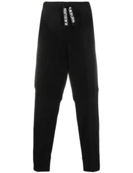 Dual Textured Track Pants by Raeburn