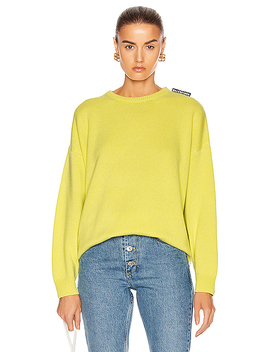 Long Sleeve Crewneck Sweater by Balenciaga