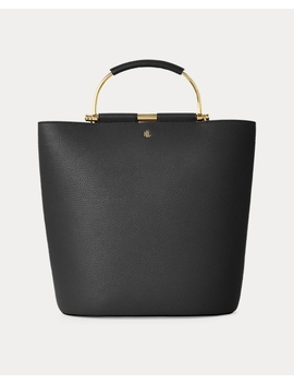Pebbled Leather Leyton Tote by Ralph Lauren
