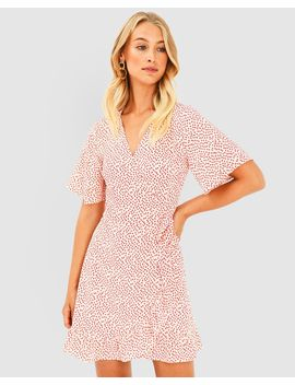 Maggie Floral Wrap Dress by Forcast