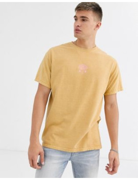 New Look Eye Logo Over Dyed T Shirt In Light Coral by New Look