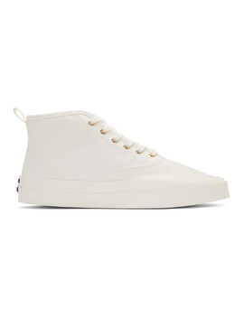 White Canvas High Top Sneakers by Maison KitsunÉ