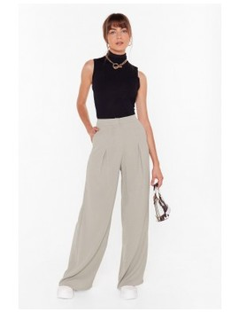 Wide Awake High Waisted Wide Leg Pants by Nasty Gal