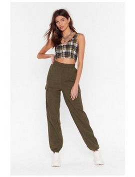 Cargo Pocket Side Trouser by Nasty Gal