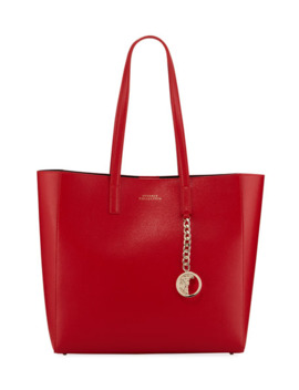 Versace Collection Saffiano Large Tote Bag, Red by Versace Collection