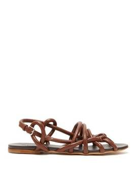 Caged Rope Strap Leather Sandals by Jil Sander