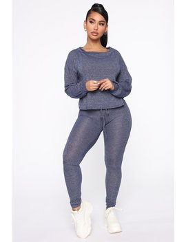 Can You Chill Lounge Set   Navy by Fashion Nova