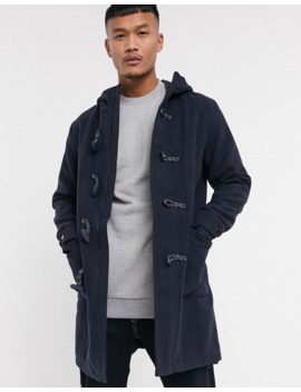 Jack &Amp; Jones Originals Hooded Duffel Coat In Navy by Jack & Jones