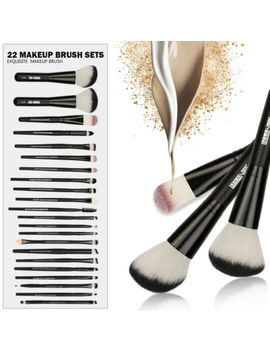 Maange 22pcs Makeup Brush Set Blusher Cream Concealer Eye Shadow Brushes Set Kit by Maange
