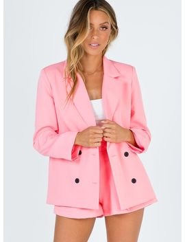 Yours Truly Jacket Pink by Princess Polly