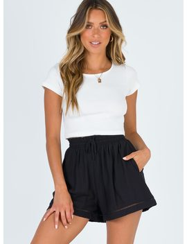 Break The Ice Shorts Black by Princess Polly