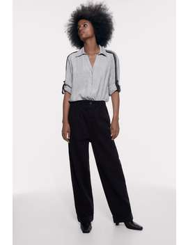 Skjorte Med BÅnd I Kontrast by Zara