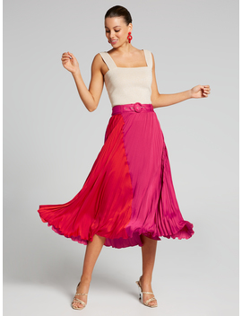 Colour Me Up Pleated Skirt by Portmans
