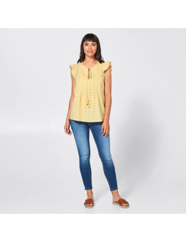 Rosie Dobby Blouse   Yellow by Target