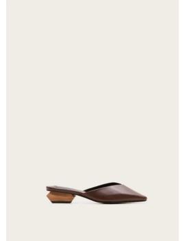 Buty Skórzane Na Geometrycznym Obcasie by Mango