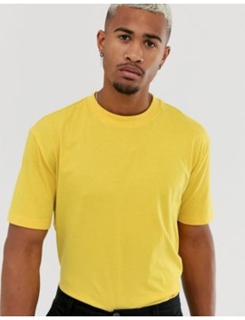 Asos Design Organic Relaxed T Shirt With Crew Neck In Yellow by Asos Design