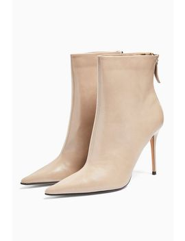Eda Taupe Point Boots by Topshop