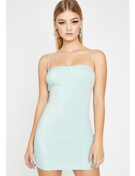 Aqua Champagne Poppin' Mini Dress by Dolls Kill
