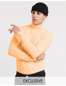 Collusion Roll Neck T Shirt In Neon by Collusion
