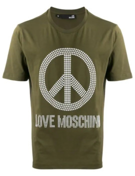 Peace And Love T Shirt by Love Moschino
