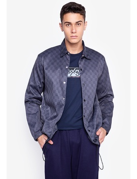 Oxgn Monogram Coach Jacket With All Over Print by Oxygen