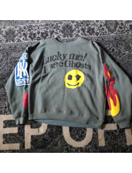 Ksg Lucky Me I See Ghosts Crewneck Cpfm Kanye West Yeezy Og by Cactus Plant Flea Market  ×  Kids See Ghosts  ×