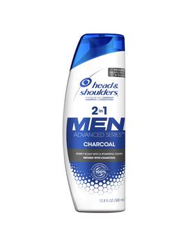 Head And Shoulders Men Advanced Series 2in1 Charcoal Shampoo To Deep Clean & Detox Scalp, 12.8 Fl Oz by Head & Shoulders