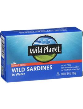 Wild Planet Wild Sardines In Water No Salt Added    4.4 Oz by Wild Planet