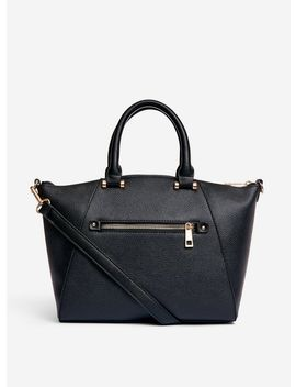 Black Pocket Front Mini Tote Bag by Dorothy Perkins