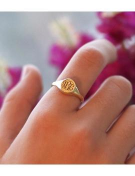 Siegel Ring Personalisierte Siegel Ring Monogramm Ring Gold Siegel Ring Personalisierte Schmuck Personalisierte Ring Frauen Siegel Ring Initial Jx06 by Etsy