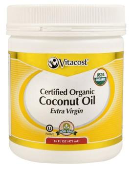 Vitacost Extra Virgin Certified Organic Unrefined Coconut Oil    16Fl Oz   Non Gmo by Vitacost