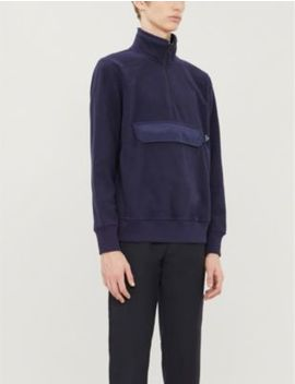 Funnel Neck Cotton Fleece Sweatshirt by Ps By Paul Smith