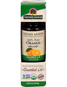 Nature's Answer 100% Pure Organic Essential Oil Orange    0.5Fl Oz by Nature's Answer