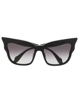 Cat Eye Scalloped Sunglasses by Blumarine