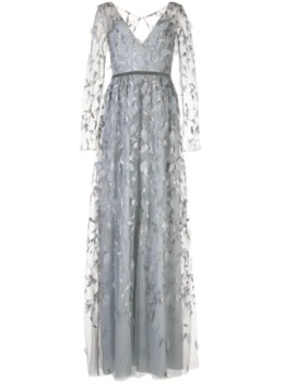 Leaf Embroidered Gown by Marchesa Notte