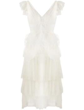 Sleeveless Ruffle Dress by Marchesa Notte