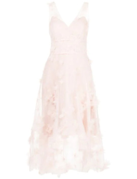 Floral Detail High Low Dress by Marchesa Notte
