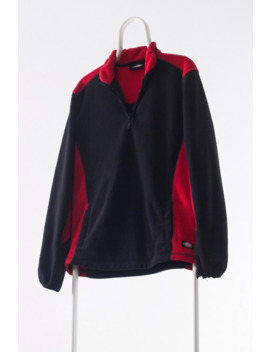 90s Vintage Mens Dickies Fleece Pullover Jacket A4456 by Vintage  ×  Dickies  ×