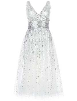 Sequin Embellished Flared Dress by Marchesa Notte