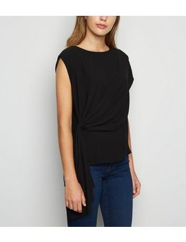 Black Drape Cape Top by New Look