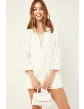 Linen Blazer White by Perfect Stranger