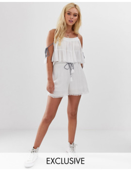 Wednesday's Girl Crop Smock Top &Amp; Shorts Two Piece by Asos