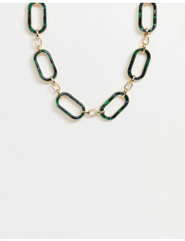Asos Edition Chain With Resin Detail In Gold Tone by Asos Edition