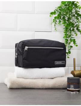 Calvin Klein Primary Washbag In Black by Calvin Klein