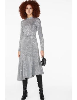 Midi Sequin Skirt by Monki