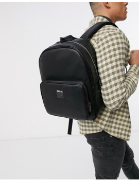 Replay Logo Backpack In Black by Replay's